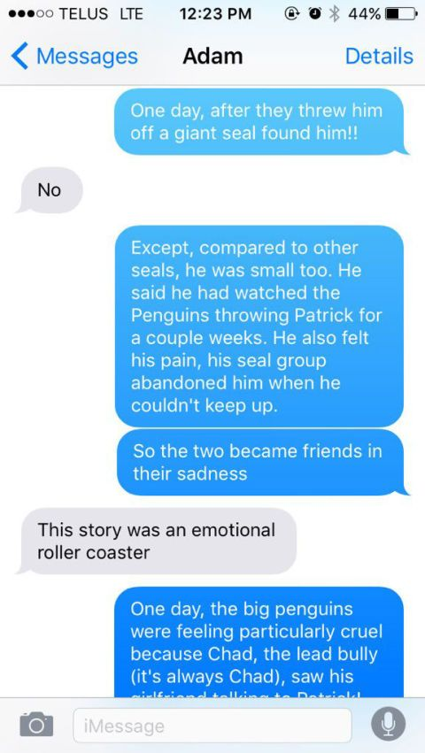 This Text Message Story About a Bullied Bisexual Seal Is Better Than Most Published Novels