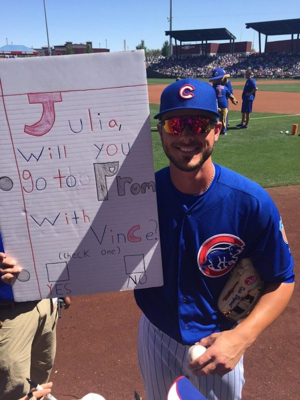 A Pro Baseball Player Made This Couple's Promposal Go Viral