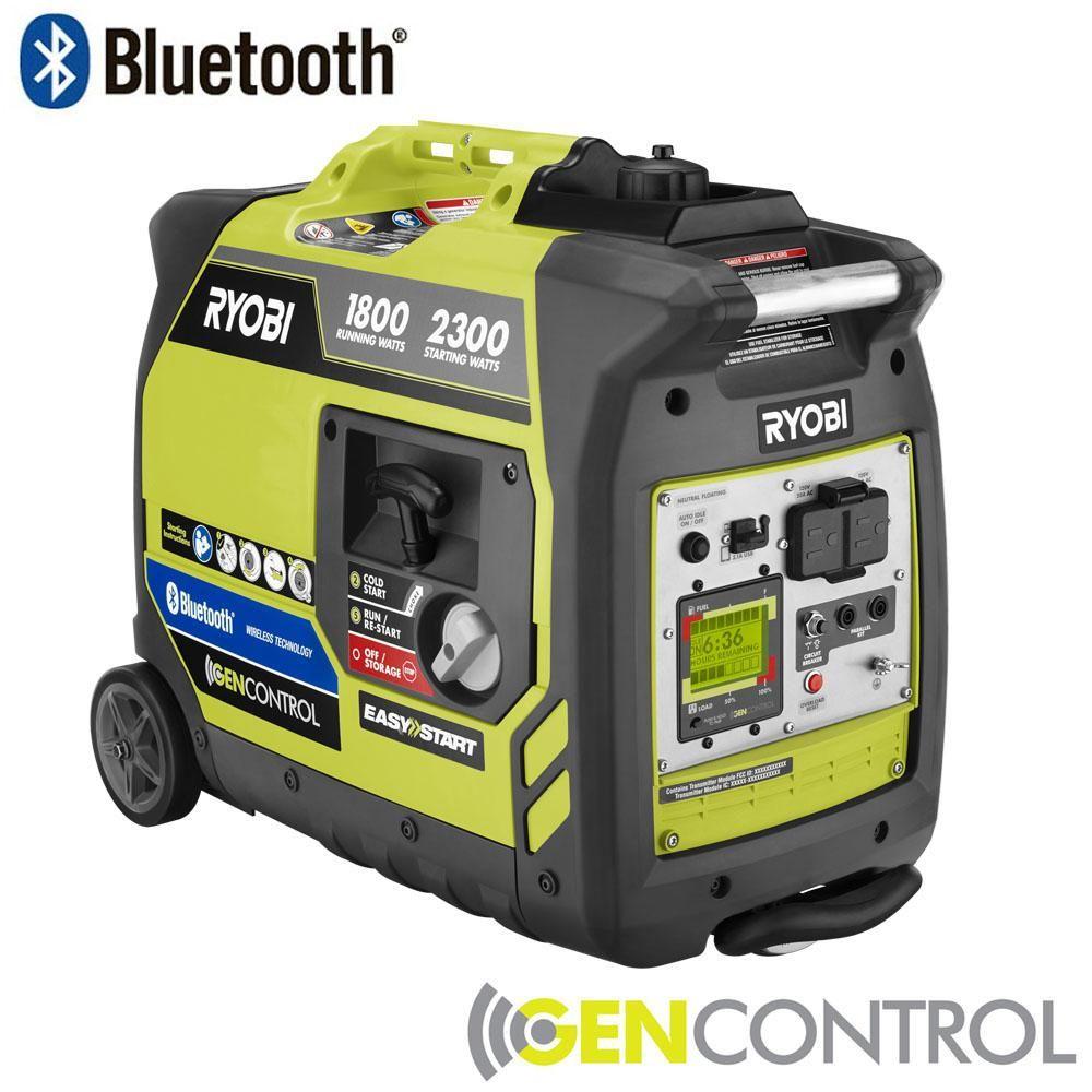 medium resolution of ryobi bluetooth 2 300 watt super quiet gasoline powered digital inverter generator