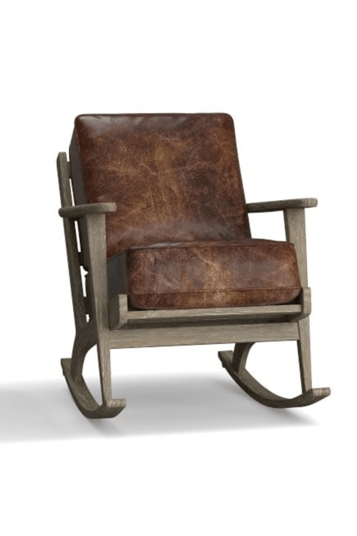 Crate And Barrel Rocking Chair Raylan Leather Rocking Chair