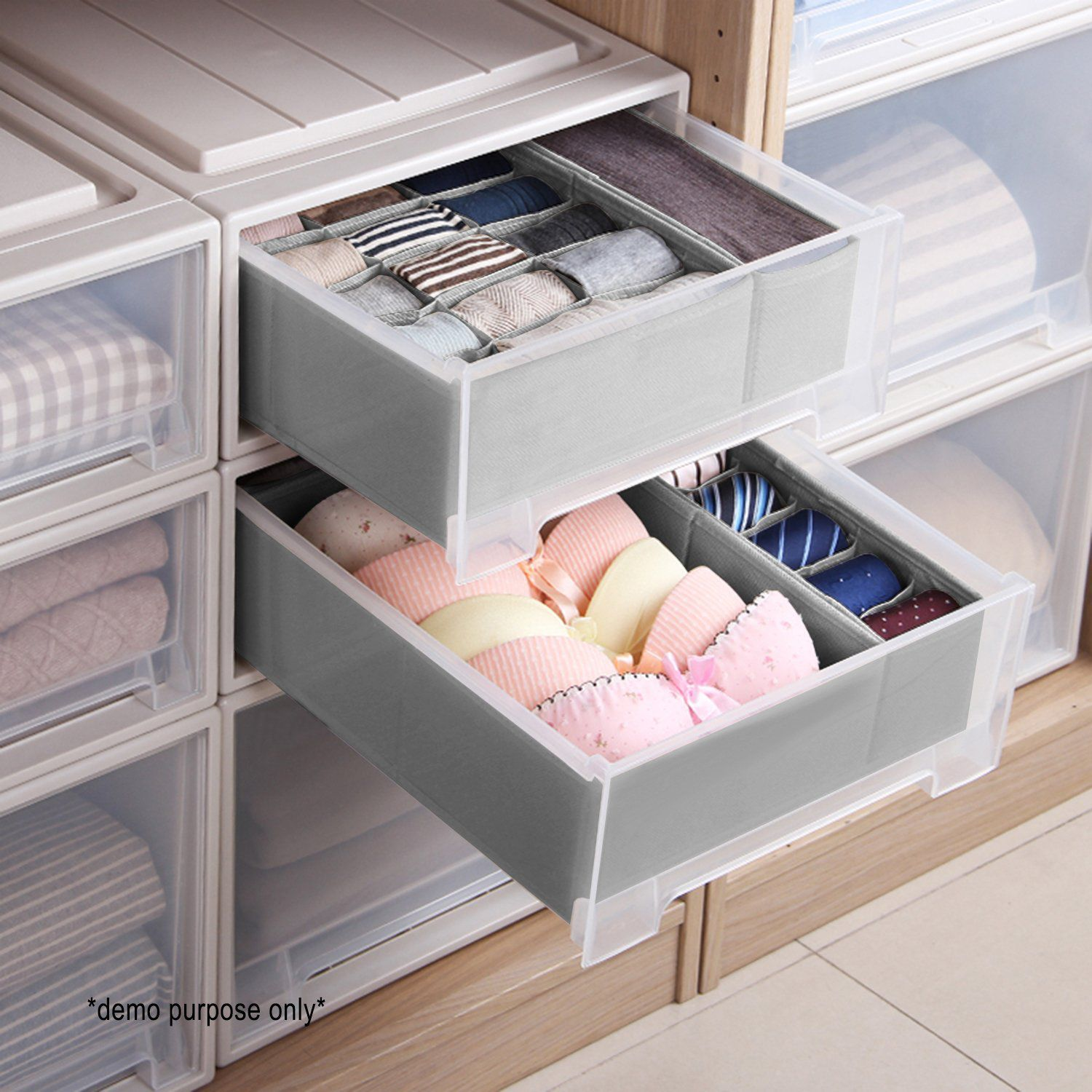 Use Drawer Organizers For Socks And Bras
