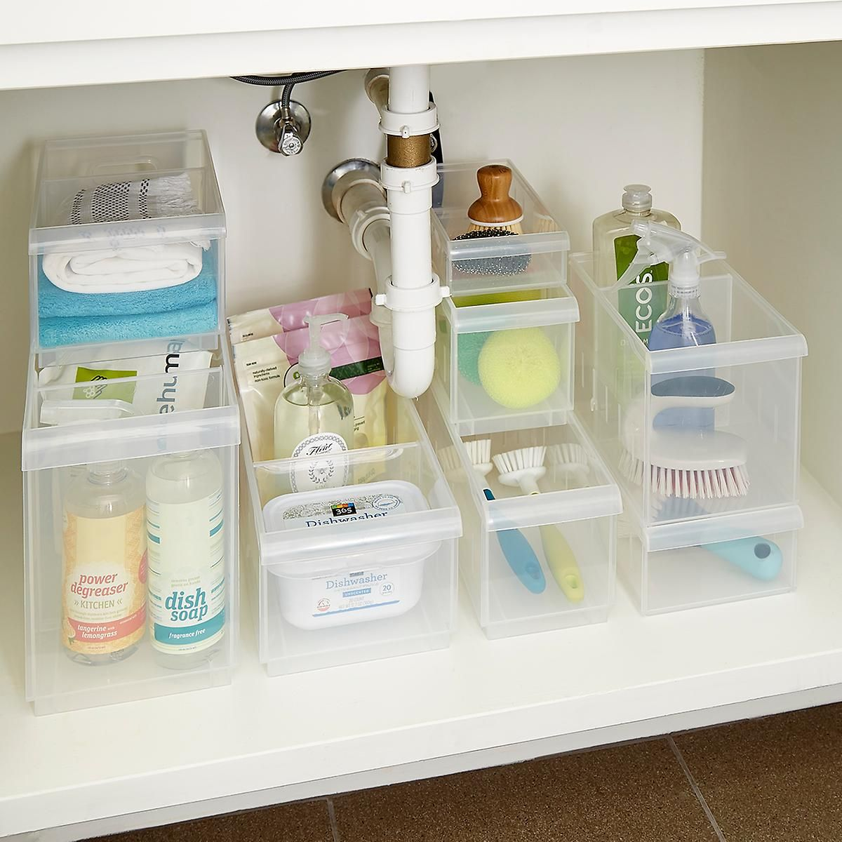How To Organize A Bathroom Plastic Under Sink Organizers