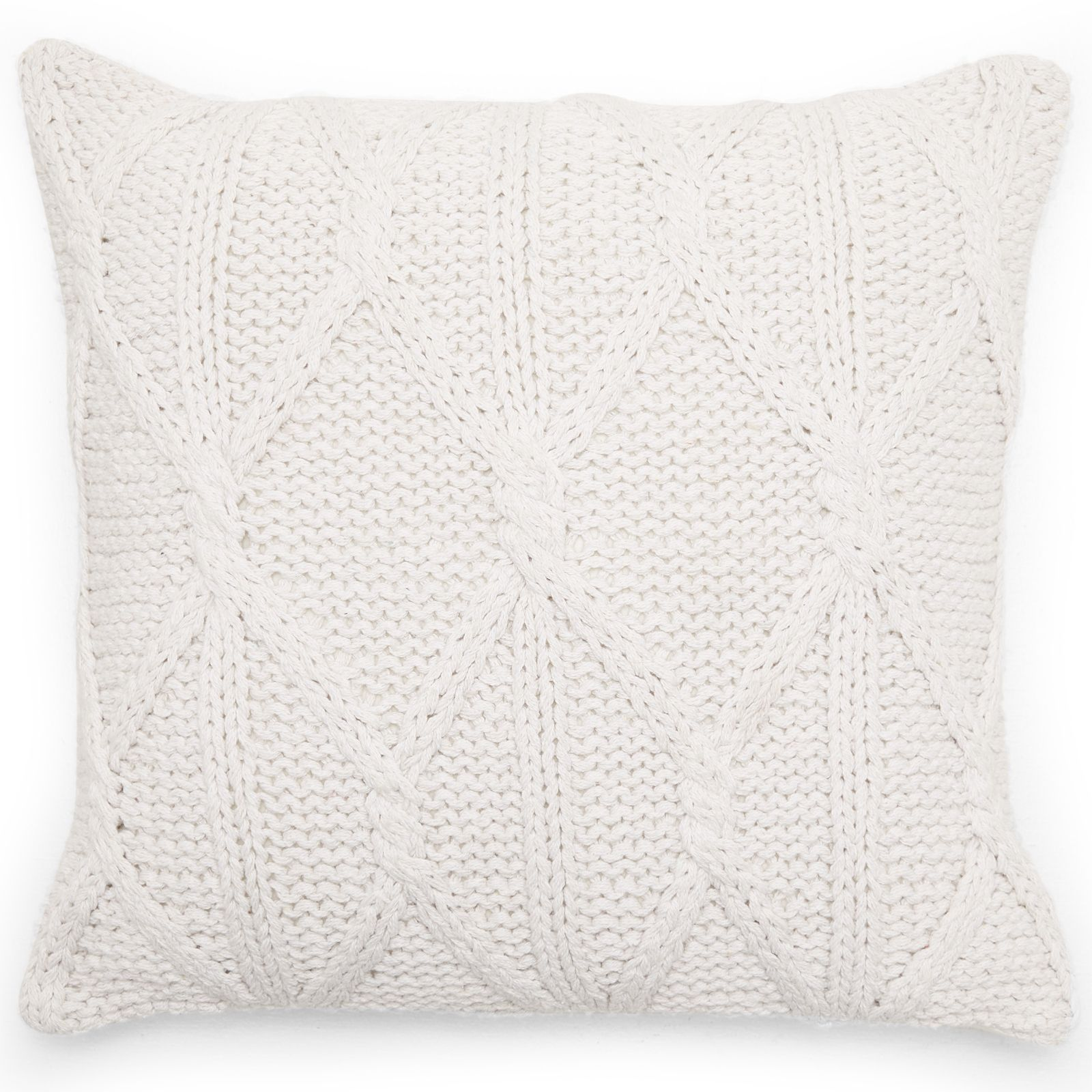 scandinavian knit braided pillow