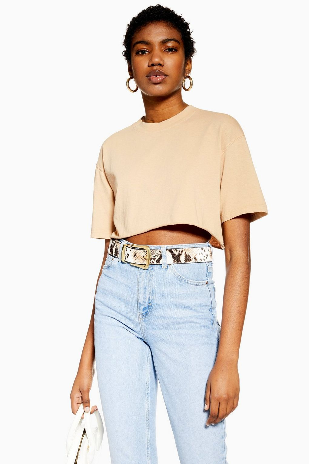"""Crop tops help me define my waist without having to use a belt or tuck in a shirt."""