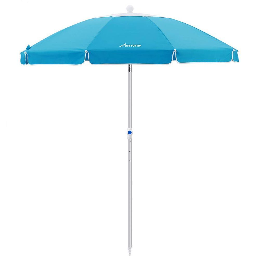 Clamp On Chair Umbrella Movtotop 6 5 Foot Beach Umbrella