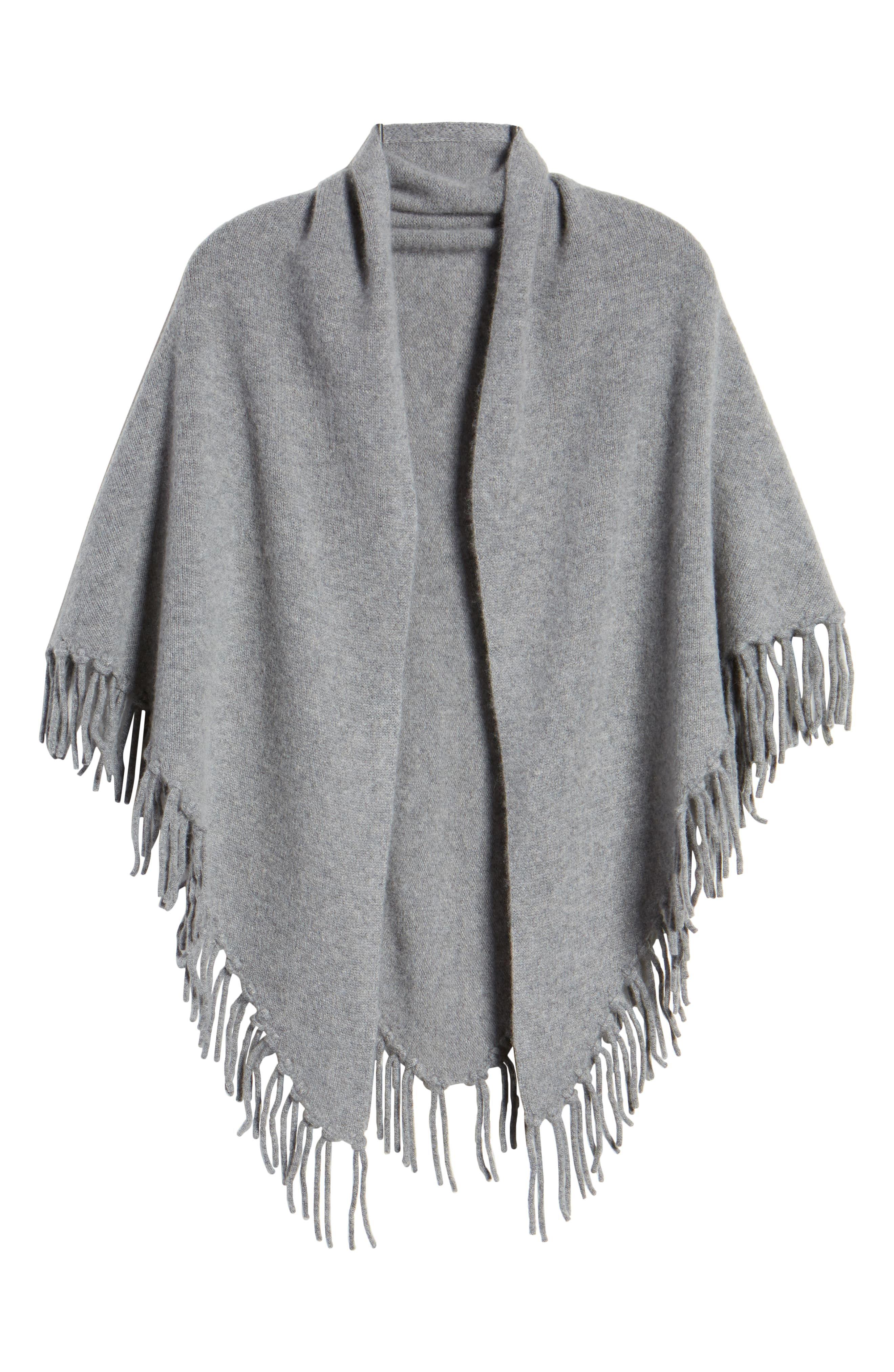 Halogen Fringe Cashmere Blanket Scarf