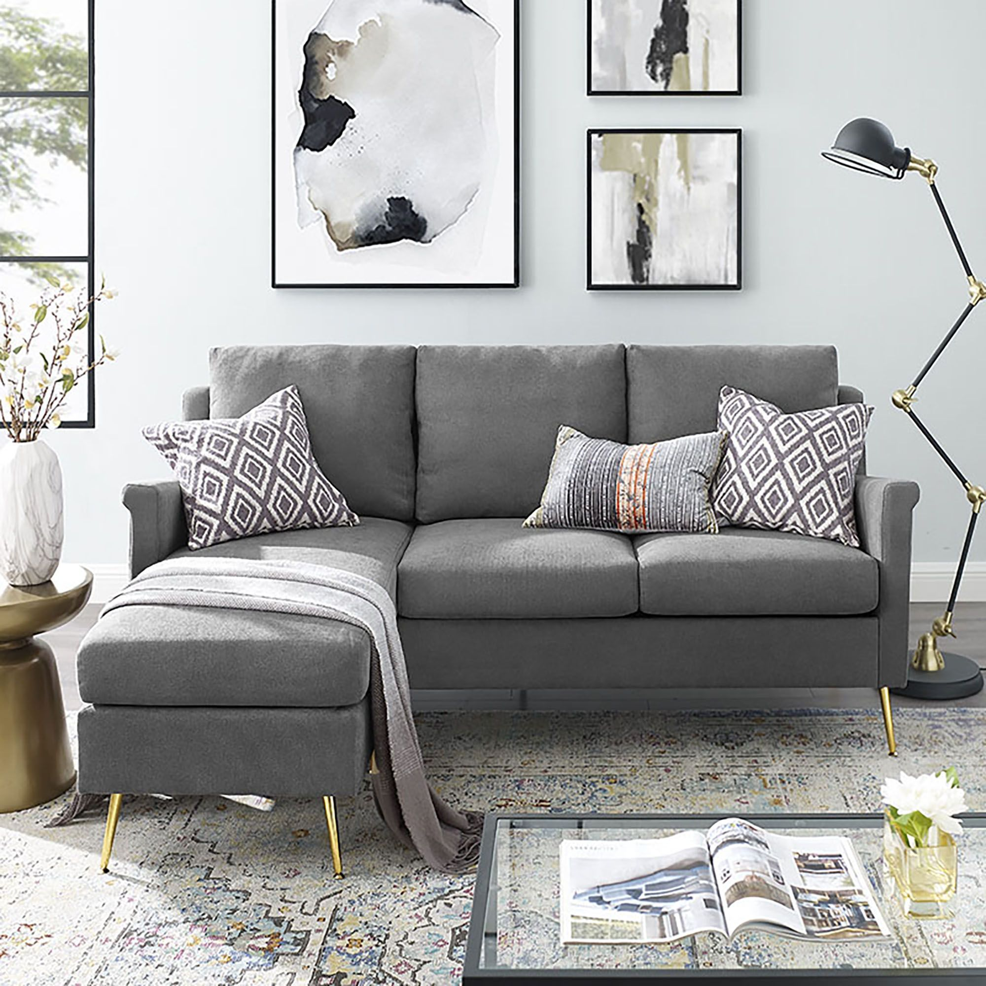 small sectional sofas