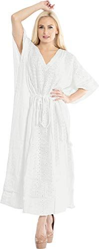 Dress white cotton with lace