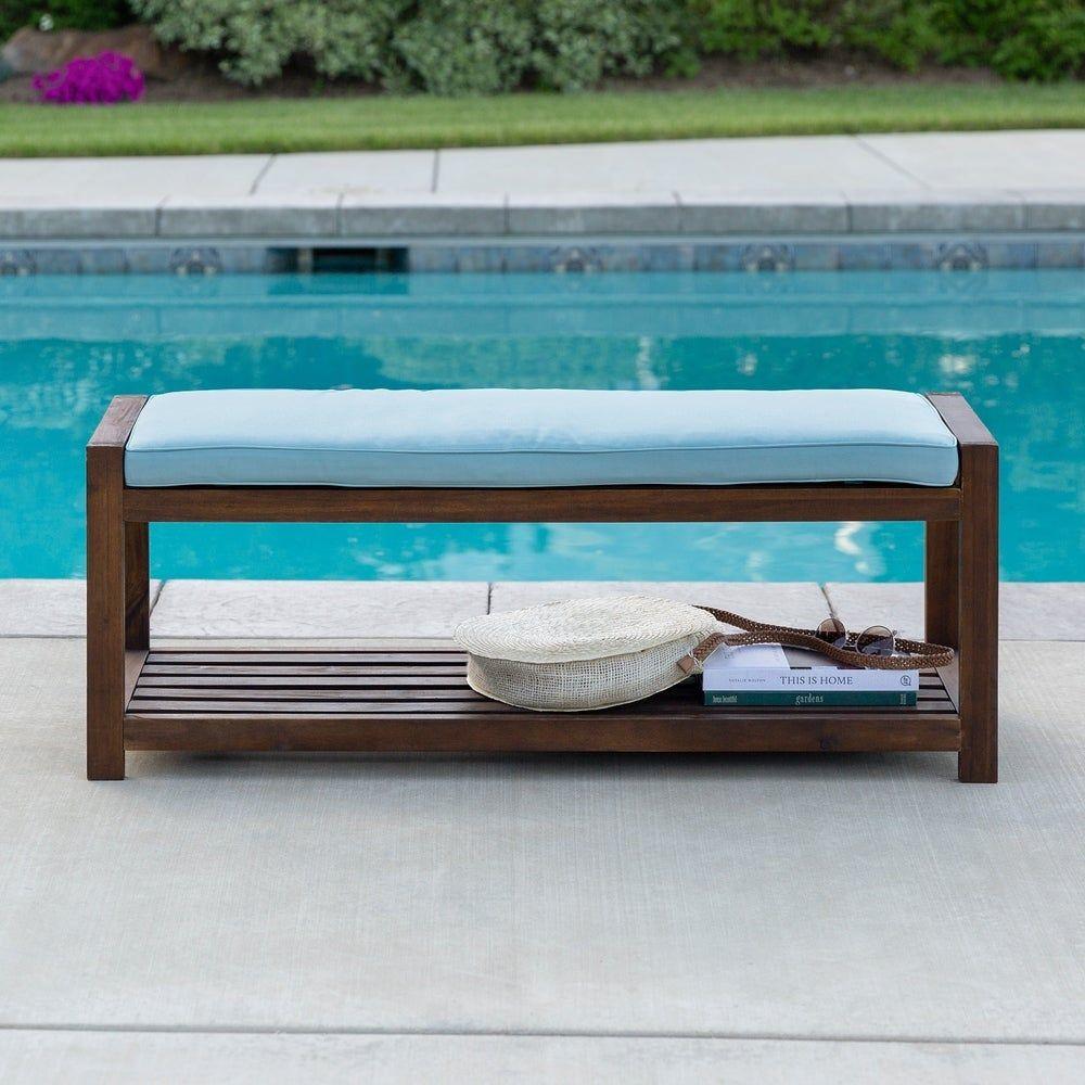 tybee 48 inch dark brown outdoor bench