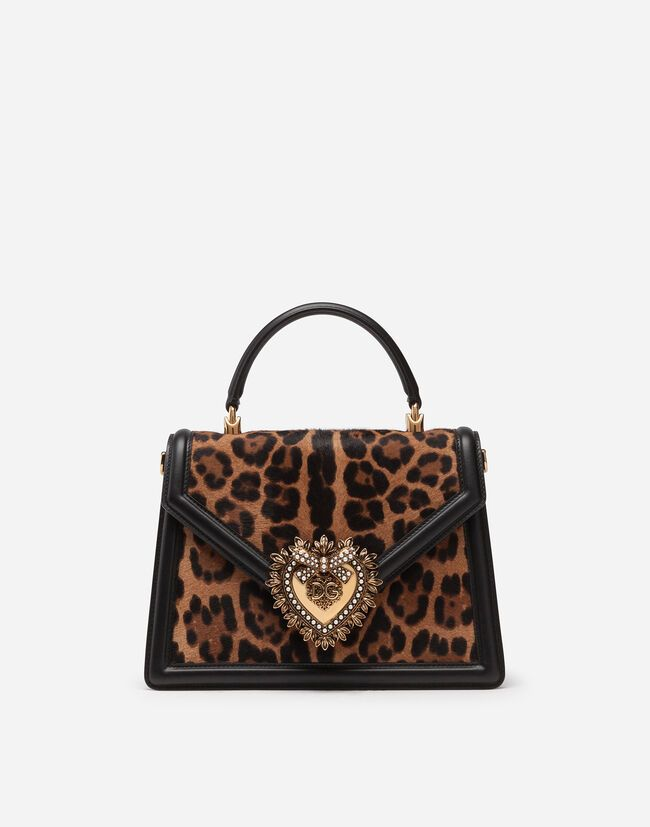 MEDIUM BAG IN LEOPARD PONY SKIN EFFECT CALFSKIN