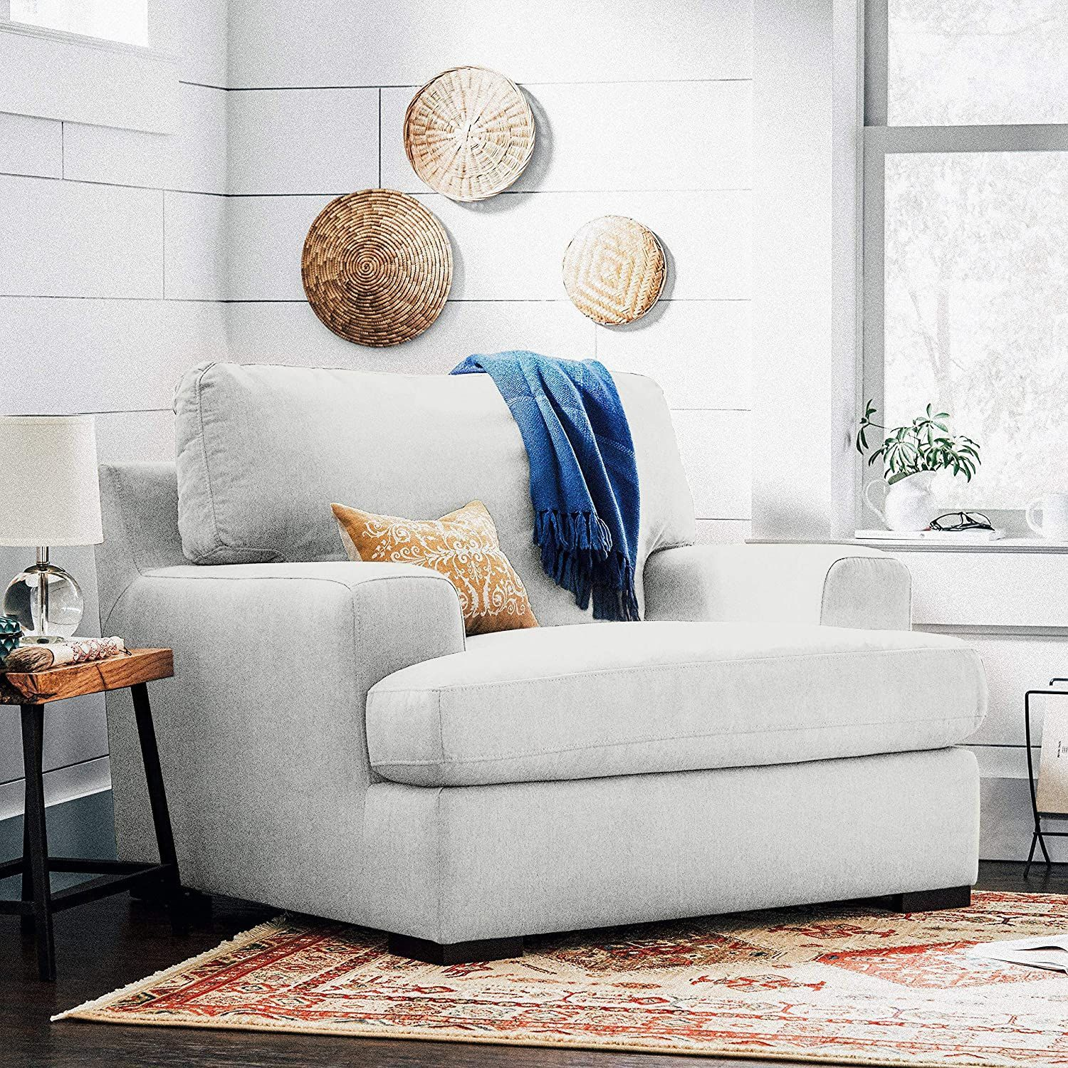 lauren down filled oversized armchair