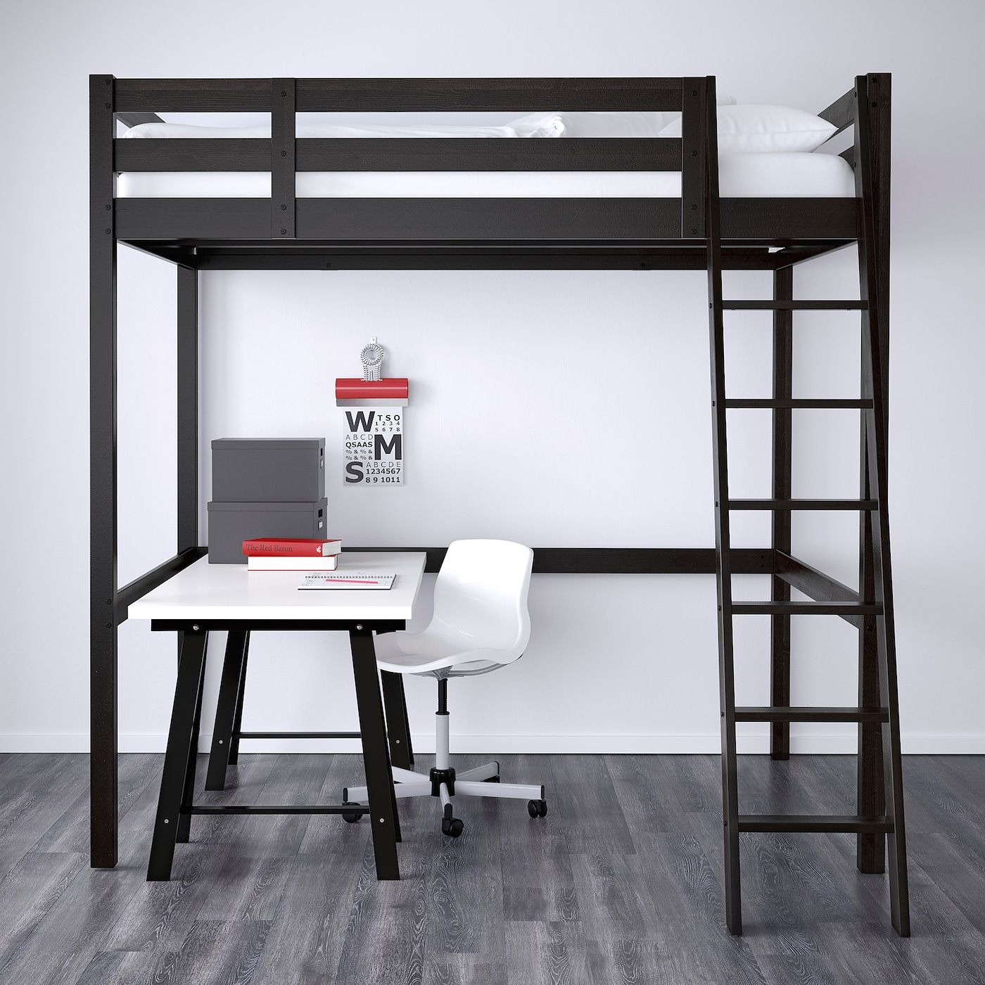 stora full double loft bed frame