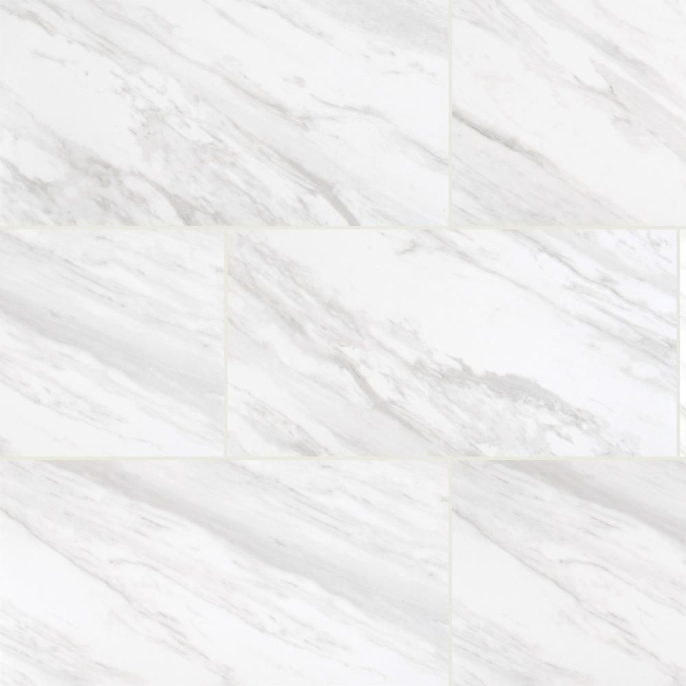 12 in x 24 in kolasus white polished porcelain floor and wall tile 16 sq ft case