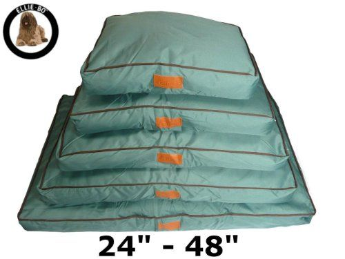 Ellie-Bo Waterproof Dog Beds in Green - Tailor made to fit cages and crates (34