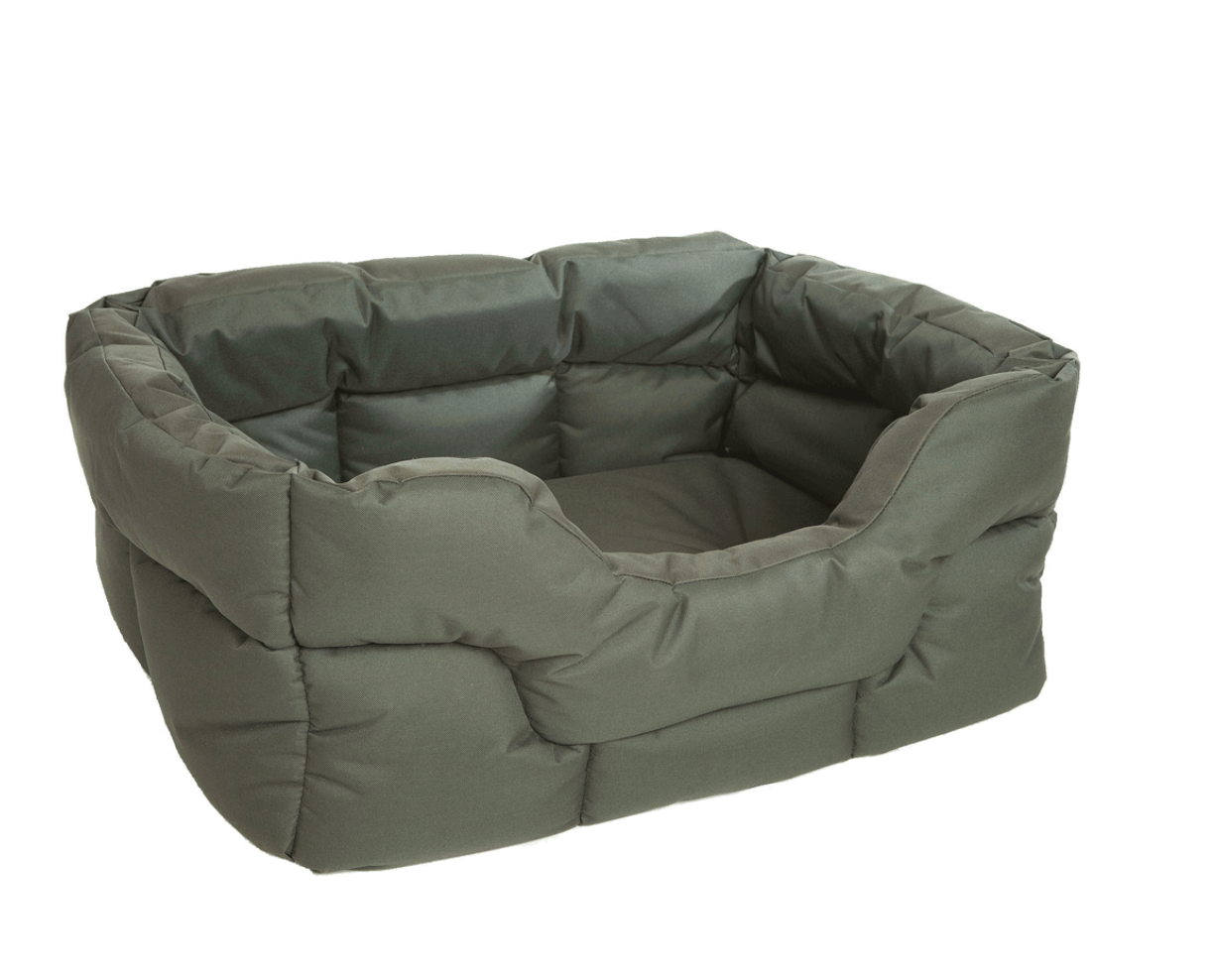 P&L Country Dog Tough Heavy Duty Rectangular High Sided Waterproof Dog Beds in 3 Sizes Medium, Large & XL/Jumbo