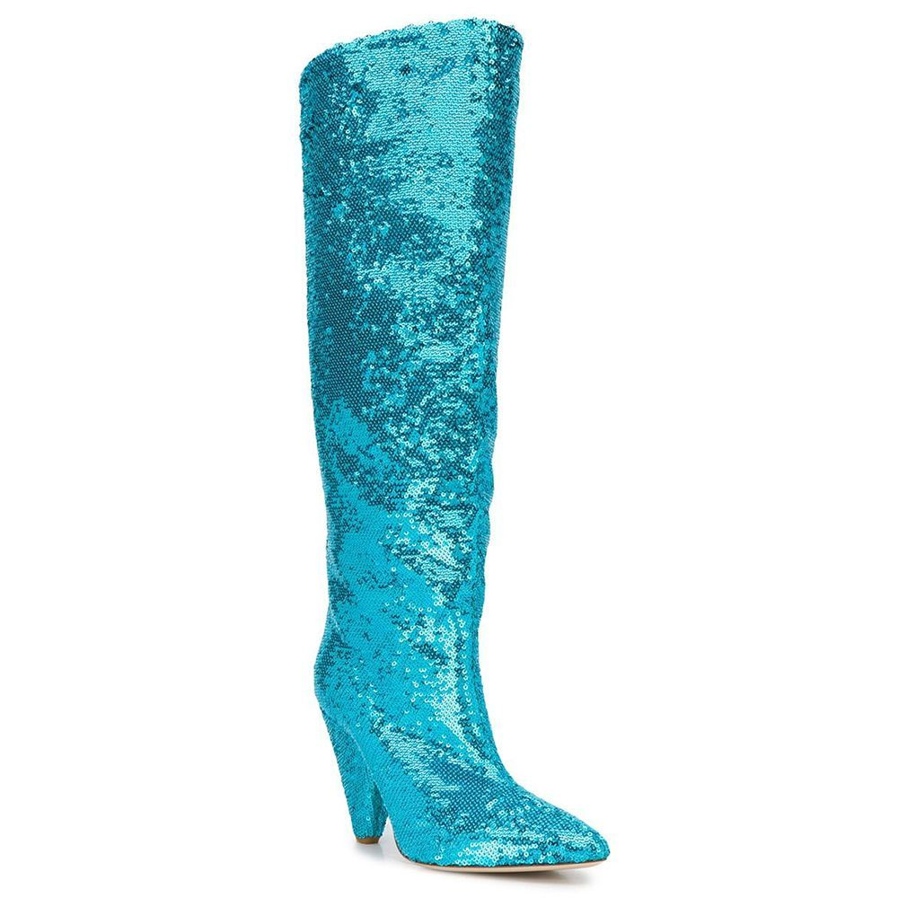 Sequined Boots