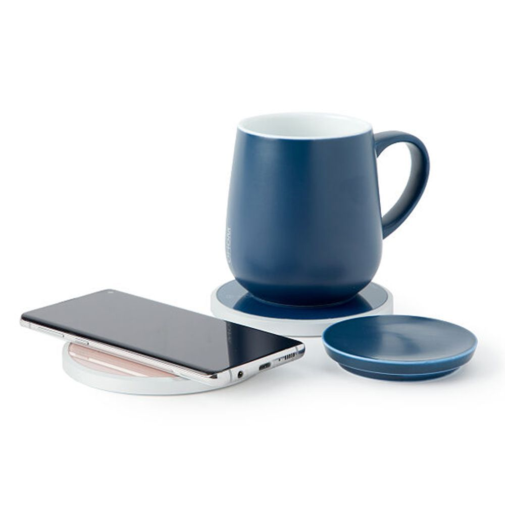 Self-Warming Ceramic Mug and Charger