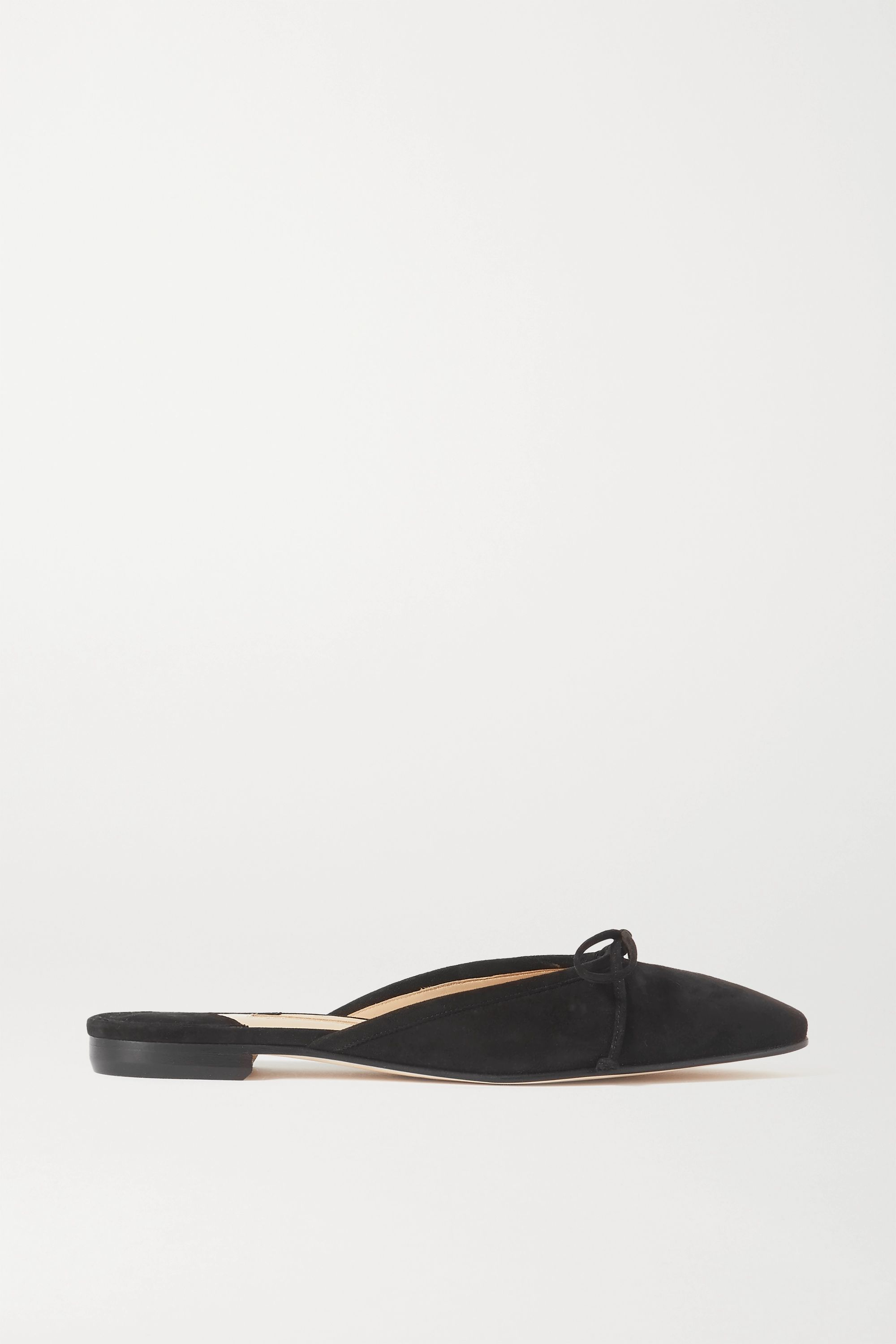 Ballerimu Bow-Detailed Suede Mules