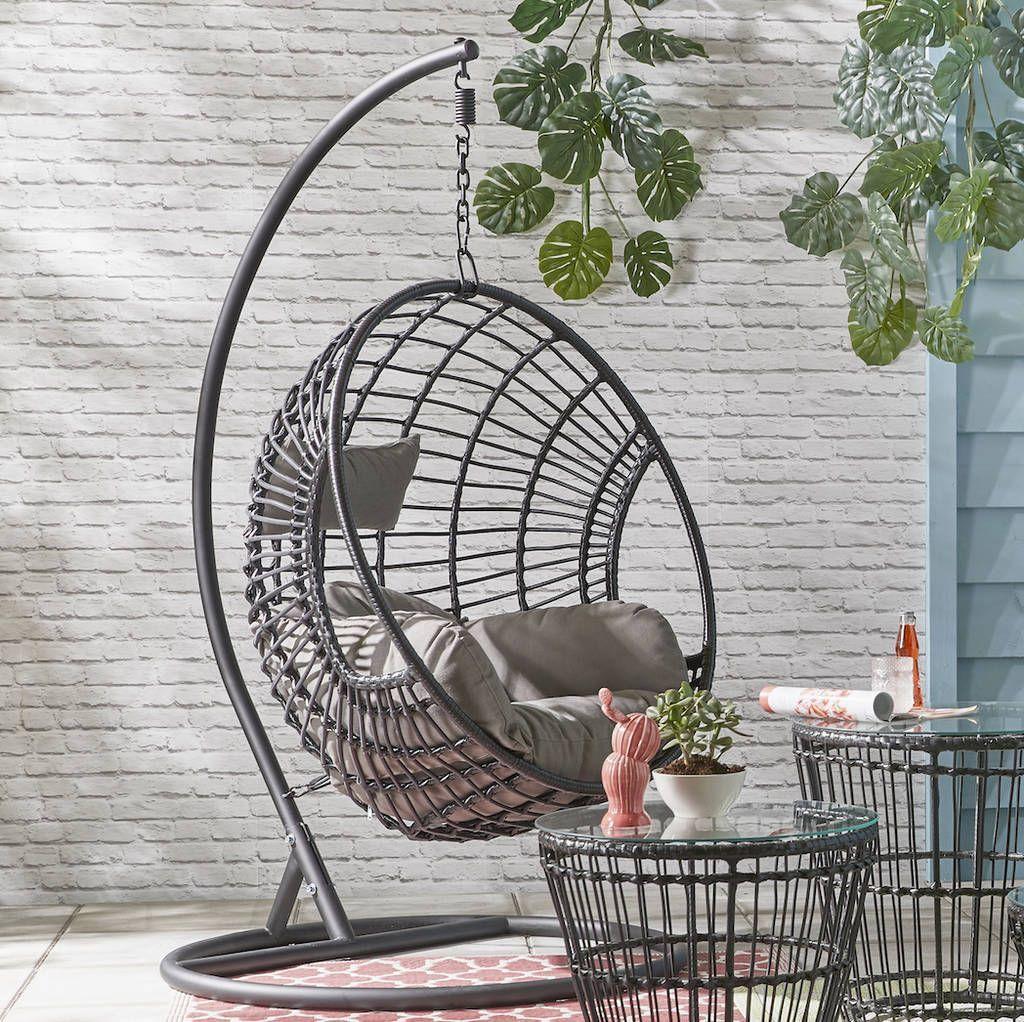 indoor outdoor hanging egg chair
