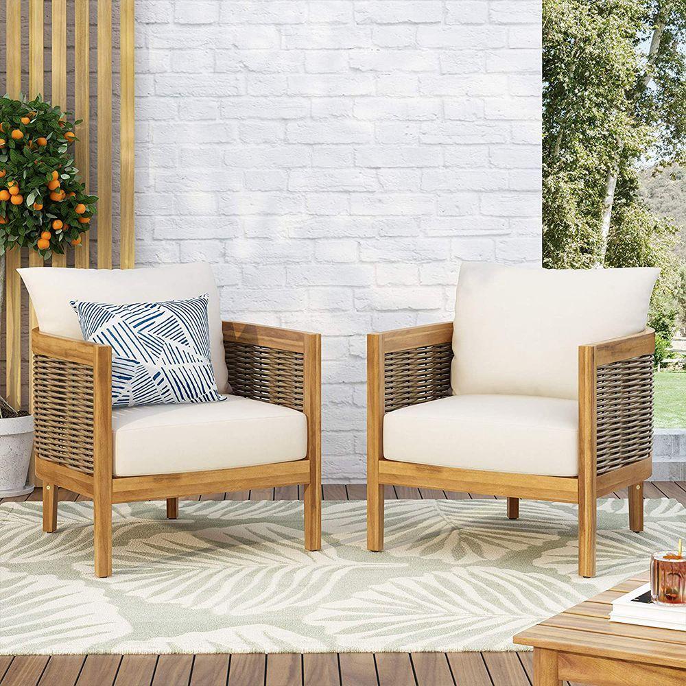 burchett outdoor club chair with cushion set of 2