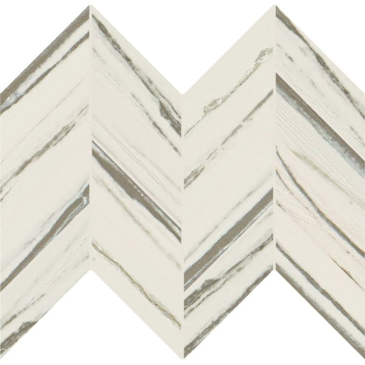 Vertuo Chevron Mosaic Floor and Wall Tile