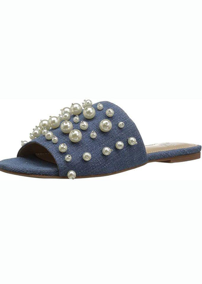 Faris Slide Sandale mit Perlen