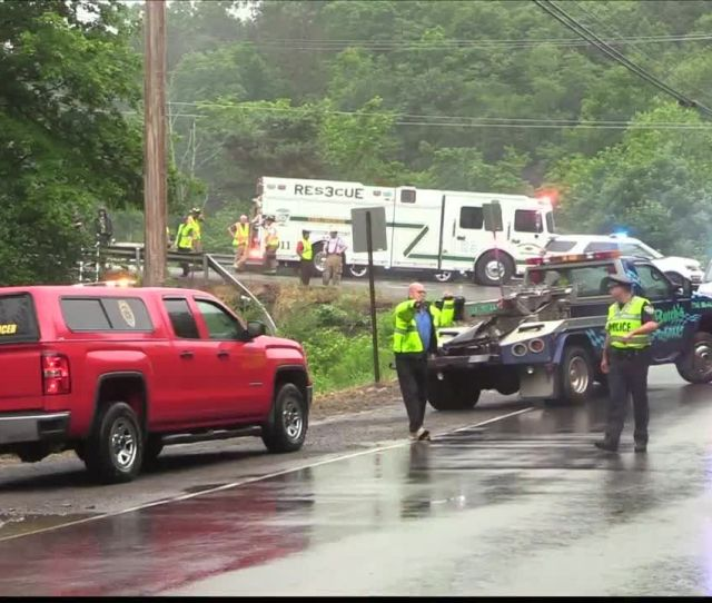 Double Fatal Collision Sends Vehicles Through Guiderail Into Creek In Butler Township