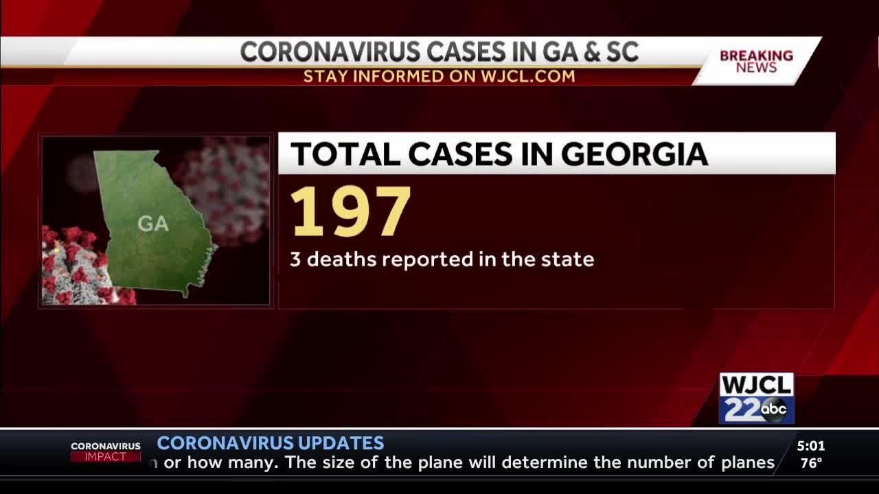 Georgia now reporting 197 confirmed cases of coronavirus