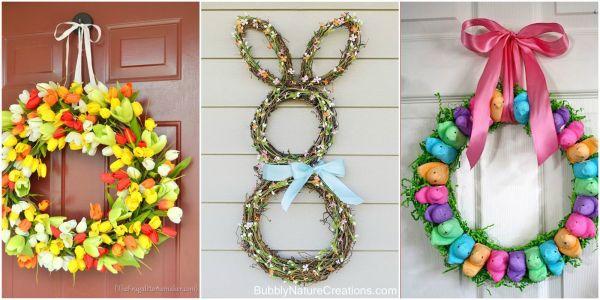 DIY Easter Door Wreaths