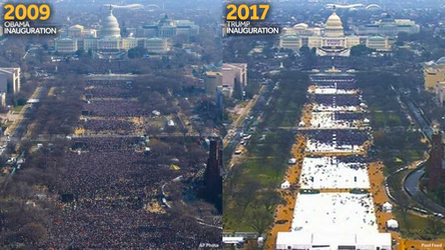 Image result for obama's inauguration vs trumps