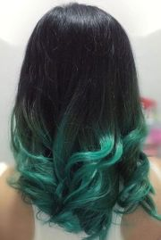 trendy hair color green