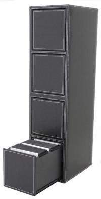 Faux Leather CD/DVD Storage :: One Touch CD/DVD Filing ...