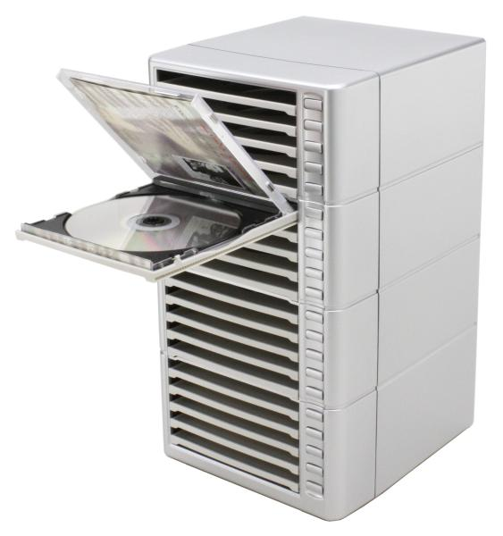 One Touch Stackable CD Rack  One Touch CD Rack