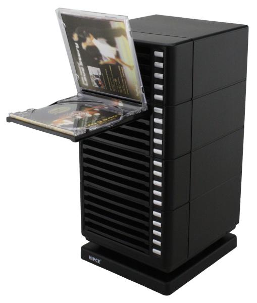 One Touch Plastic Disc Drawers  One Touch Swivel CD Rack