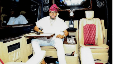 Photo of E-money in all shades of swag in his N35 million customized Mercedes bus (photos)