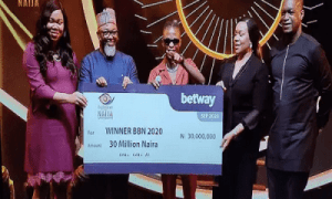 BBNaija 2020: Laycon Receives N30M, Car, House Keys