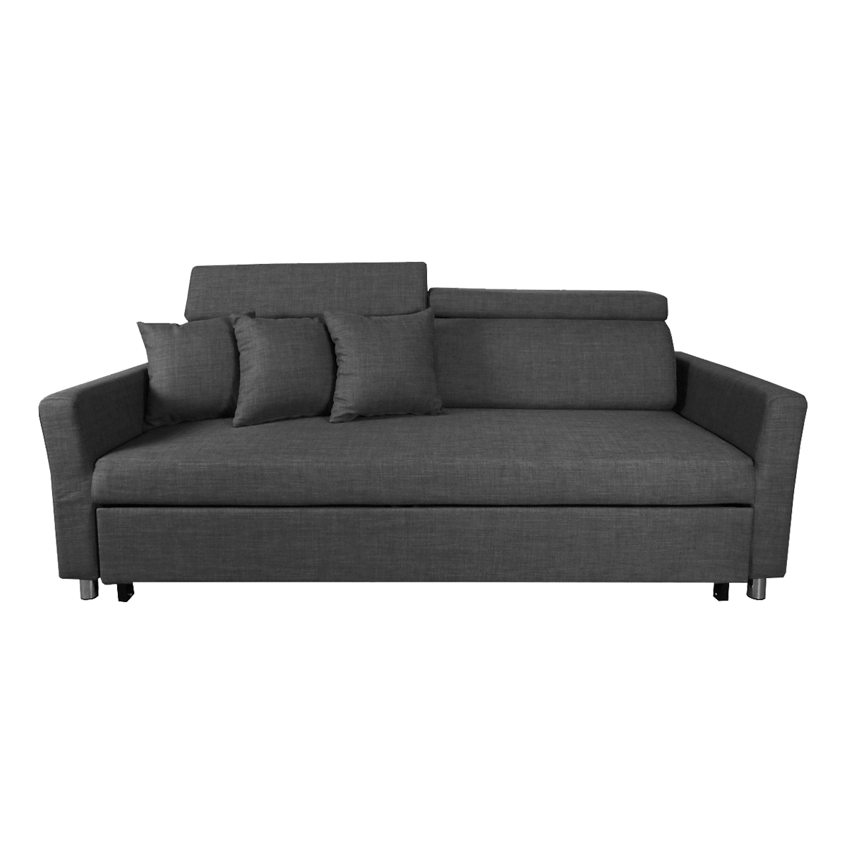 single size sofa bed singapore back of cabinet buy versatile beds online in hipvan bowen 3 seater grey image 1
