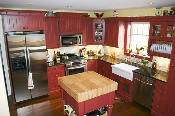 john boos kitchen island granite top table barn red decor ideas - hip who rae