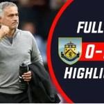 Burnley Vs Manchester United 0-2 All Goals Highlights