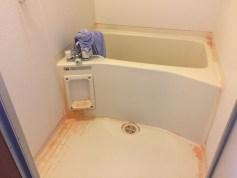 清掃前の浴室
