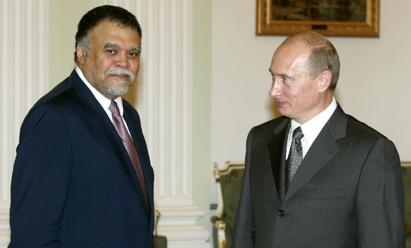 Russia's President Putin and Secretary General of Saudi Arabia's National Security Council Prince Bandar Bin Sultan meet in Moscow