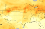 California's massive wildfires are pushing carbon monoxide across the country