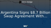 Another Dollar client jumps ship: Argentina Signs $8.7 Billion Swap Agreement With Beijing To Shore Up Sagging Peso