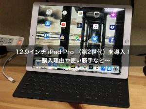 12.9インチ iPad Pro (第2世代)を導入!〜購入理由や使い勝手など〜