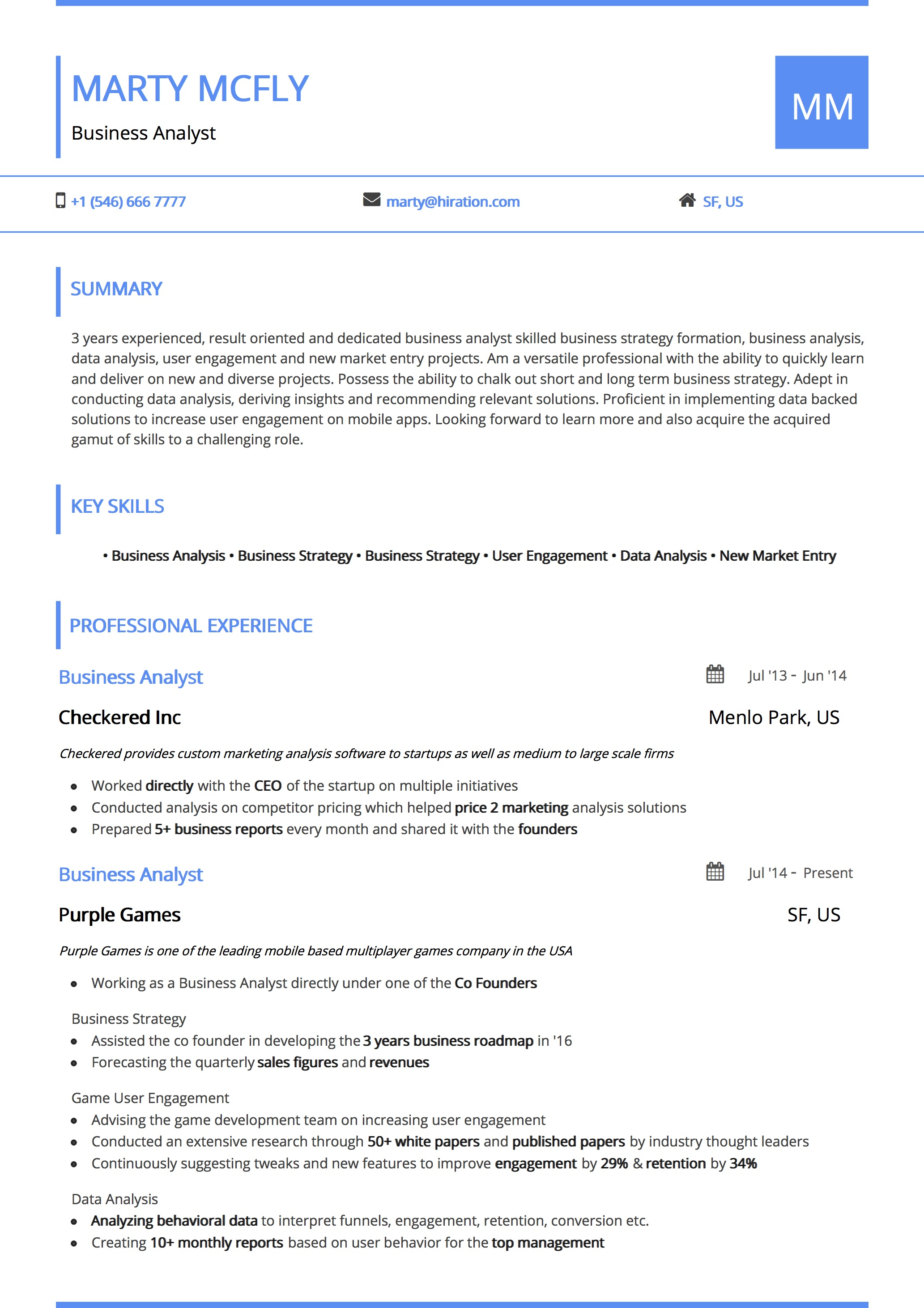 Average Resume Professional Resume Templates By Hiration