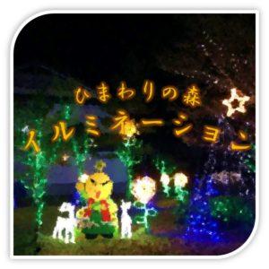 平谷村ひまわりの森イルミネーションボタン
