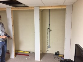 Closet in progress