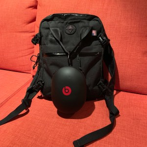 a small black backpack