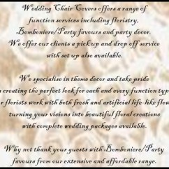 Wedding Chair Covers Hire Melbourne Jcpenney Wingback Flowers In