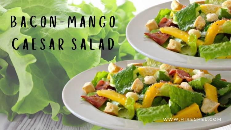 BACON-MANGO CAESAR SALAD